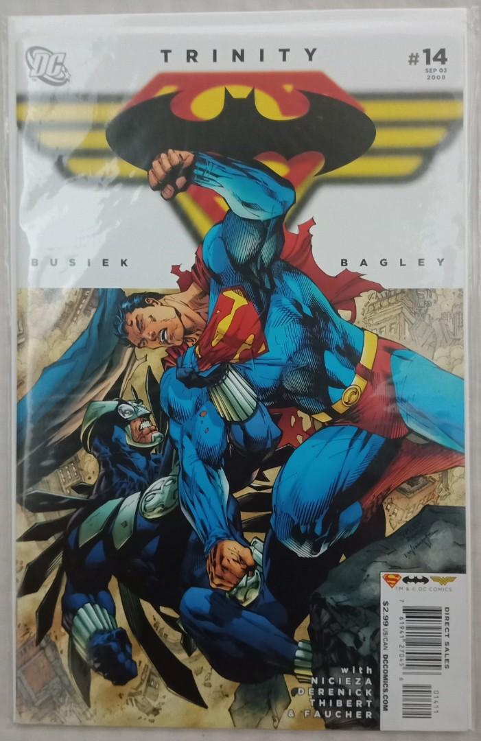 Batman, Superman & Wonder Woman in Trinity #13, 14, 15 Jim Lee connecting covers