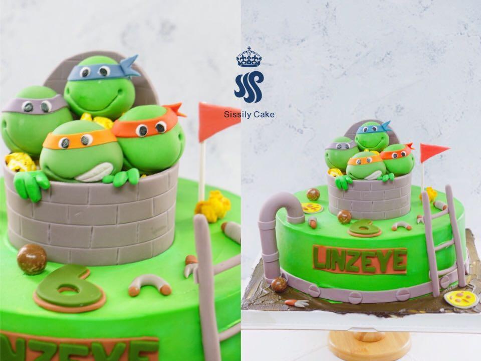 Enjoyable Birthday Cake Teenage Mutant Ninja Turtles Food Drinks Baked Funny Birthday Cards Online Necthendildamsfinfo