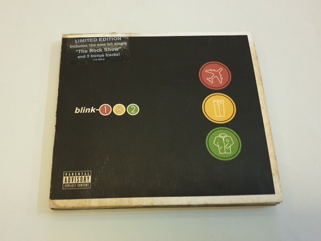 Blink 182 Limited Edition CD Gold Disc Record Take off Your Pants and Jacket