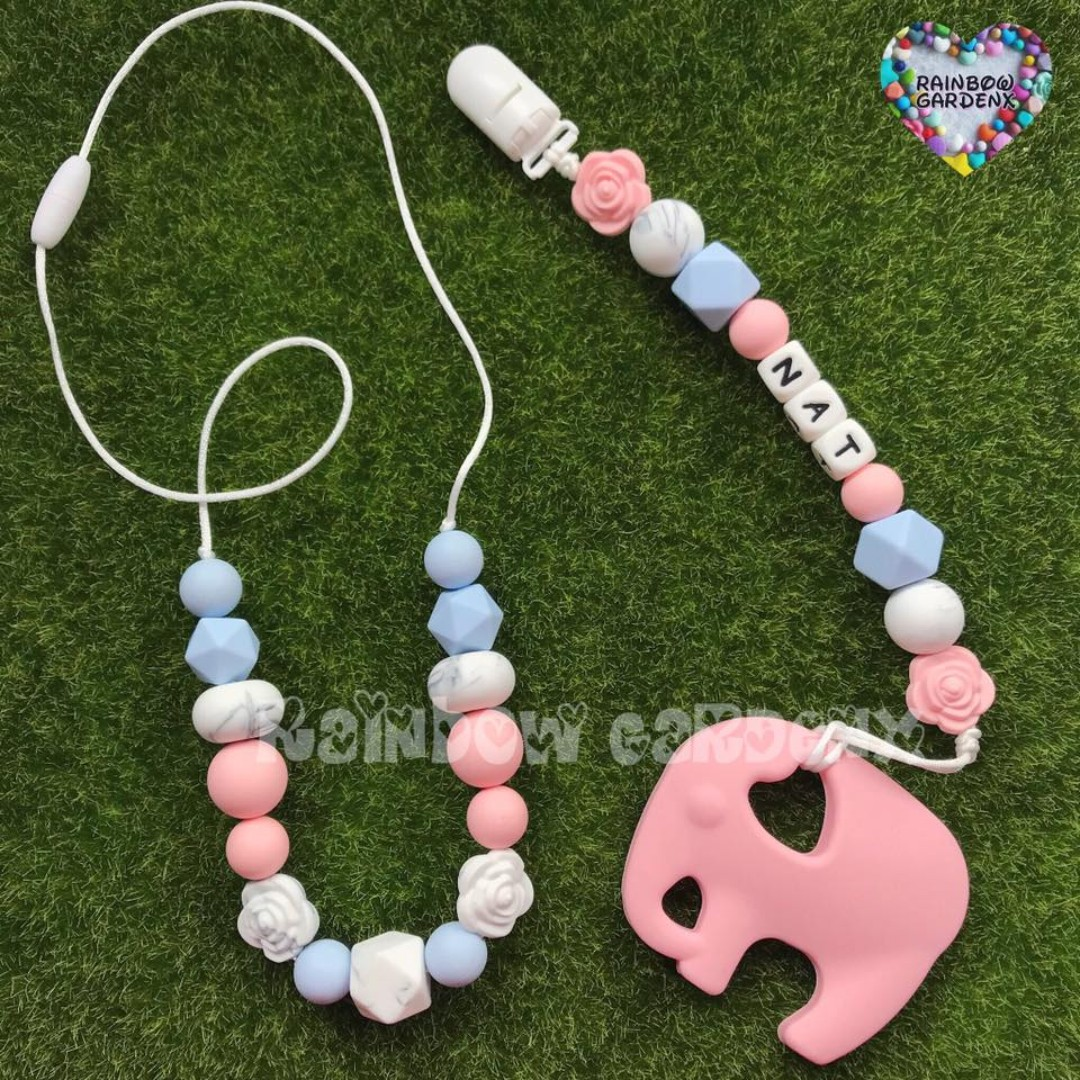 Beads Necklace Baby Pacifier Clip