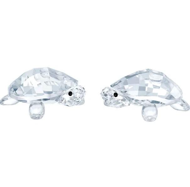 Swarovski Kristal Crystal Figurine Baby Tortoises Set Of 2 Perabotan Rumah Di Carousell
