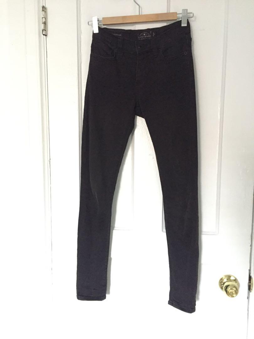 Lucky Brand 🍀 black denim jeans - mid rise, stretchy, size 25