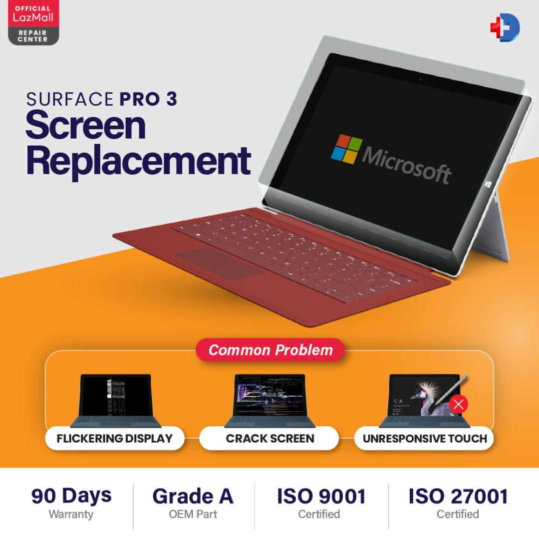 Microsoft Surface Pro 3 - keyboard/charging/power on/battery
