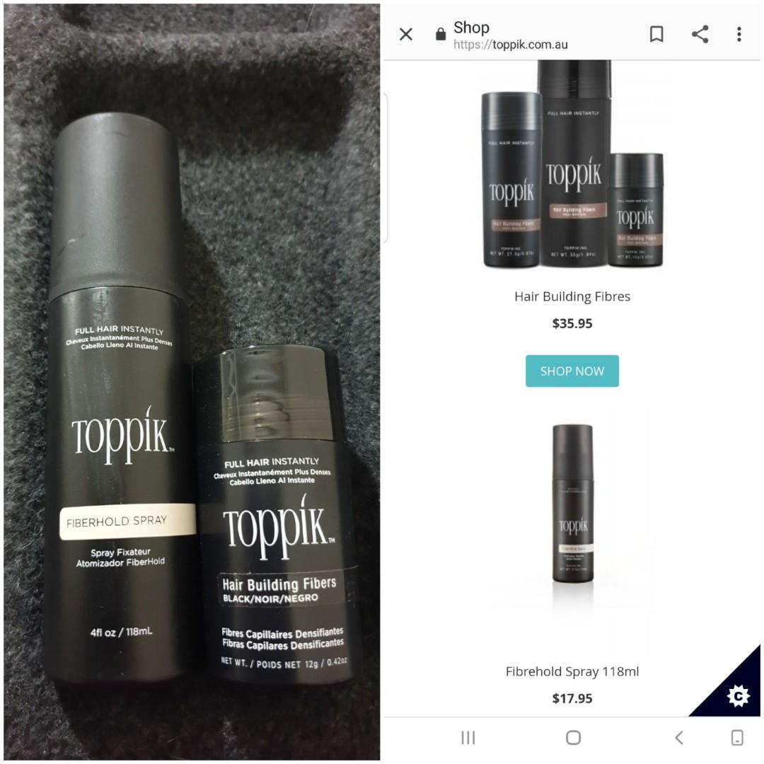 NEW $54 worth for $15 for both!!!! Hair loss, fibres, thickening, black