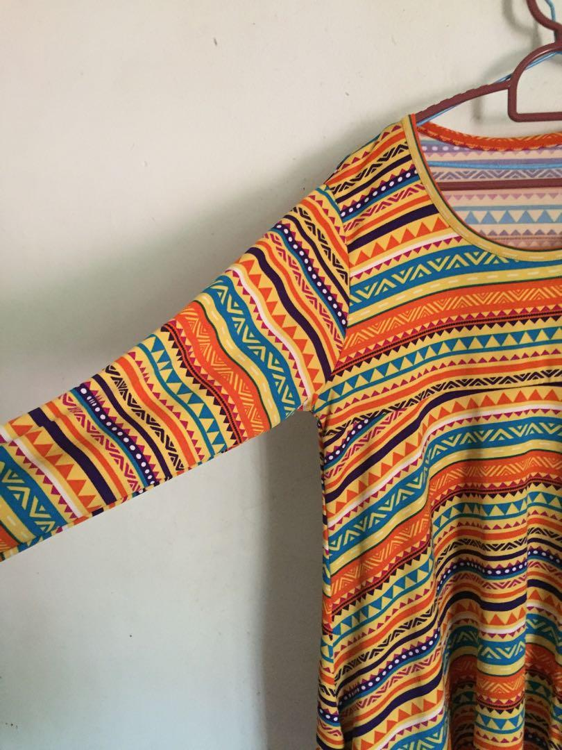 Orange Tribal Top