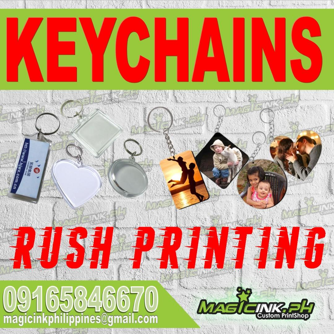 Personalized KEYCHAINS - mugs tumblers lanyards button pins tshirt printing eco bags drawstring bags towels caps notebooks Corporate Giveaways Supplier