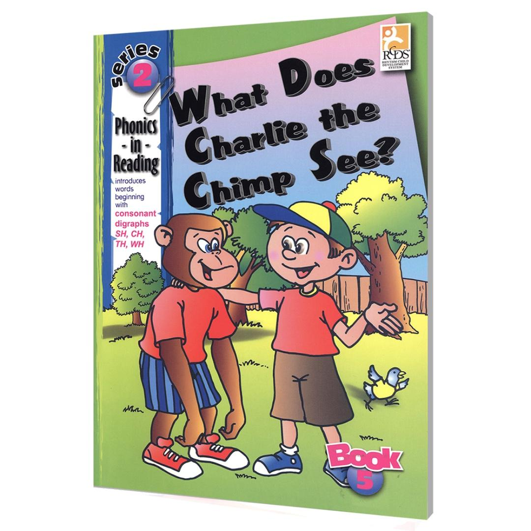 Phonics in Reading Series 2: Book 5 - What Does Charlie the Chimp See | Children's Book | Early Readers