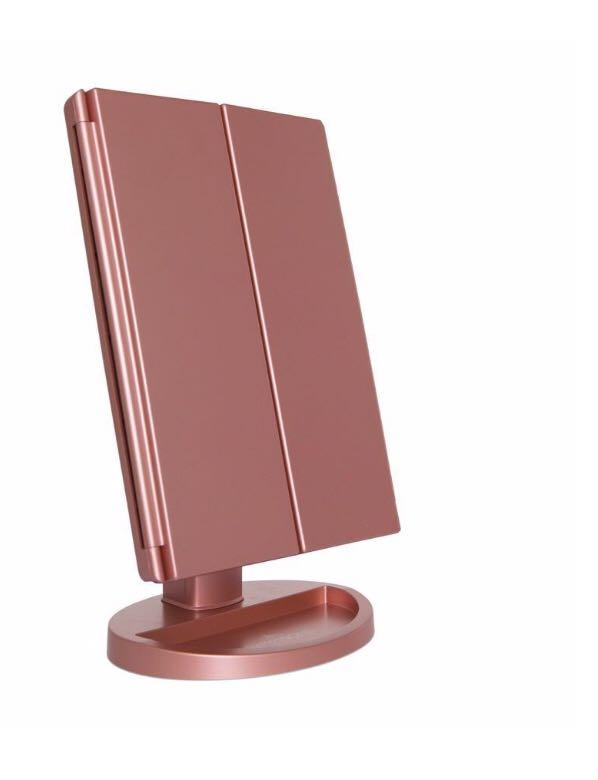 Rose Gold Makeup Mirror LED Vanity Light Magnifying Beauty