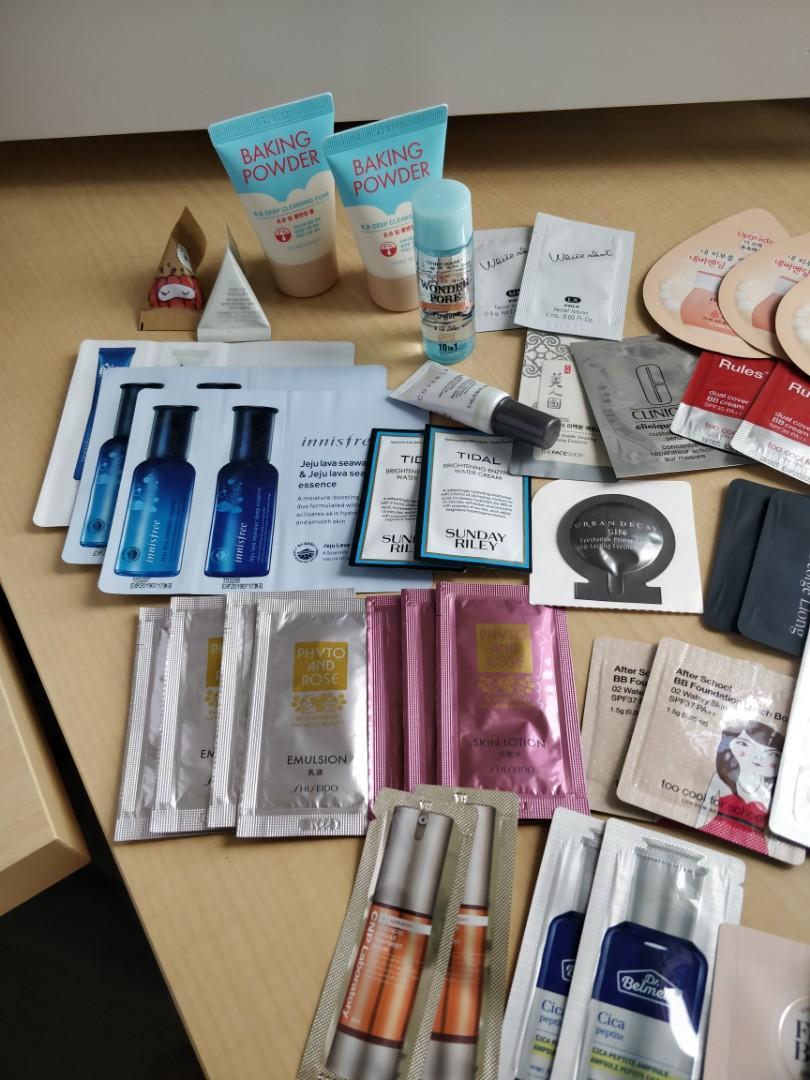 Skincare Makeup Sample Pack (Sephora, Korean, Japan)