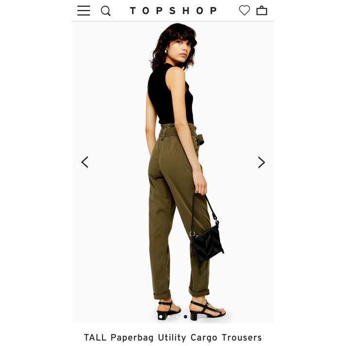 許路兒著用款TOPSHOP 英國代購精品 轉售綁帶休閒長褲