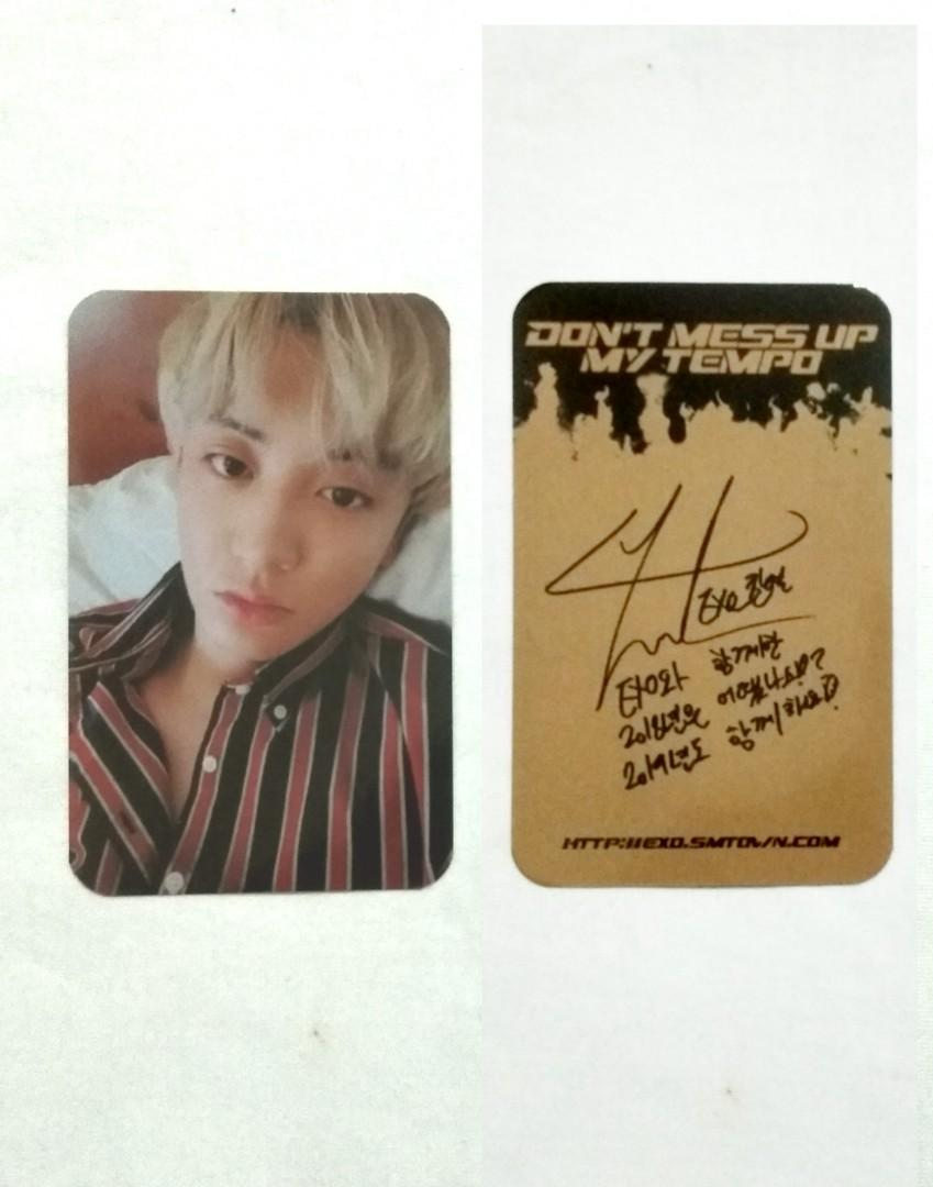 (unofficial)EXO The 5th Album 'DON'T MESS UP MY TEMPO' Photocard (Andante Version) PCY