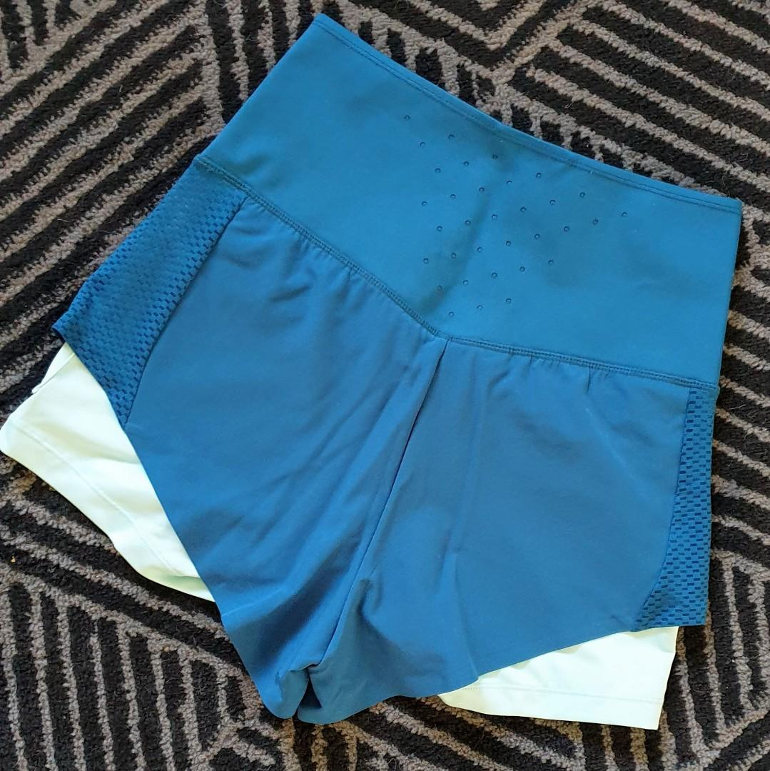 Women's size S 'METAS ATHLETIC' Gorgeous high waisted double shorts - AS NEW