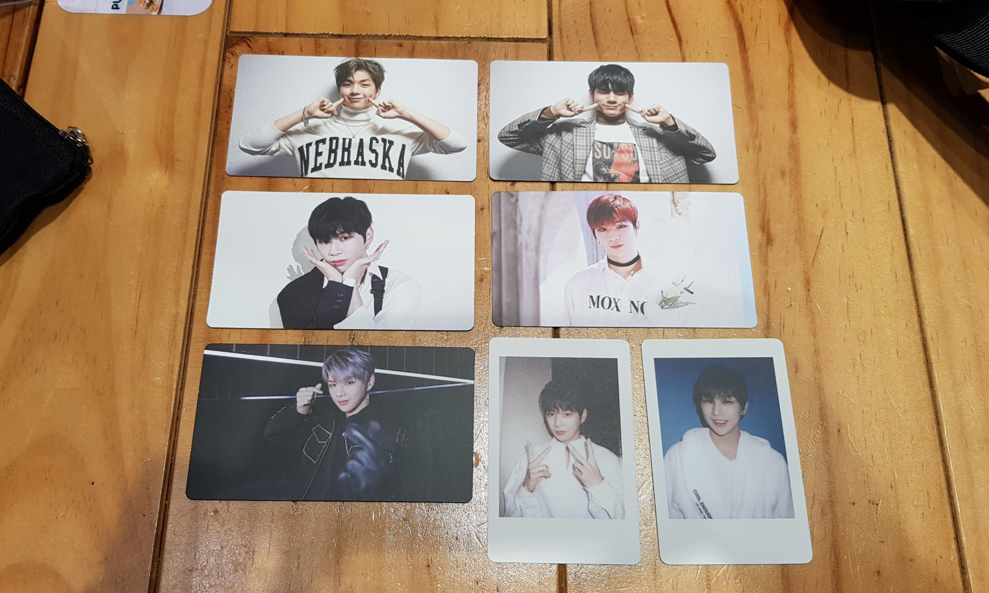 WTS Kang Daniel and Ong Seongwoo Official Broadcast Photocards