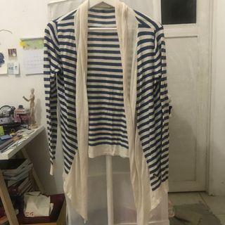 Stripes cardigan - blue