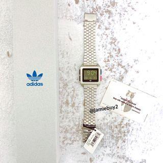 Adidas archive m1 復古方型電子手錶 電子錶