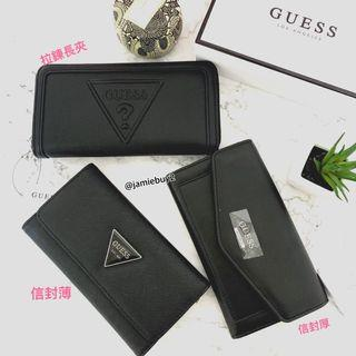 Guess logo 信封皮夾 中長夾 防刮皮夾 錢包 附盒