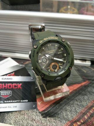 CASIO G-SHOCK GA-2000-3A 碳纖維