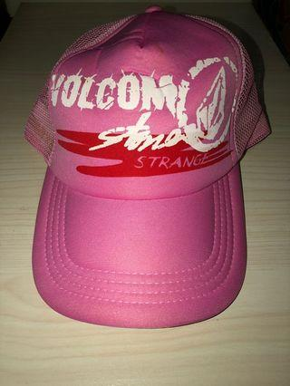 Topi Pink Volcom Cewek