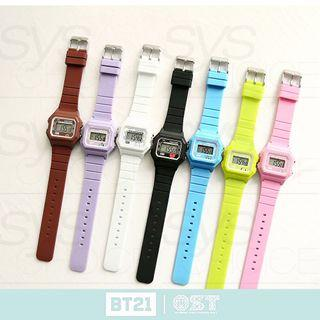 Pre Order BT21 OST Jelly Digital Watch