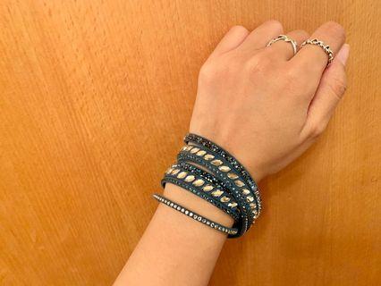 Swarovski 水晶皮繩手環(施華洛世奇)