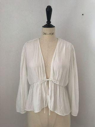 Aritzia Wilfred Cropped Blouse