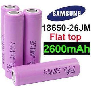 Samsung 26JM Flat Top 2600mAh Li-ion ICR 18650 Battery