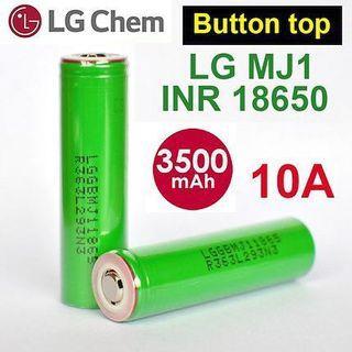 LGMJ1 Button Top 3500mAh 10A INR 18650 Battery