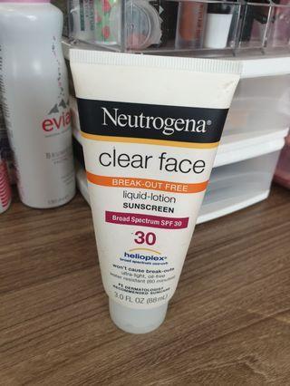 Neutrogena Clear Face Broad Spectrum SPF 30