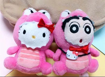 Shinchan / Hello Kitty Mini Plush