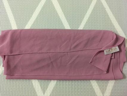 Scarfeyya Dusty Pink long shawl