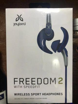 NEW AND UNBOXED Jaybird FREEDOM 2 With Speedfit Wireless Sports Headphones