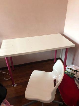 Ikea study table + chair