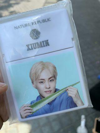 (WTB) Nature republic beauty tool yam oil control paper 50pcs (exo edition) - xiumin