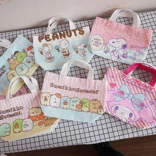Sumikko Gurashi/ Snoopy/ Melody Tote / Shopping Bag