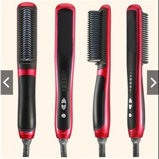 Hair Straightener Anti Static Ceramic Brush Comb Hair Style