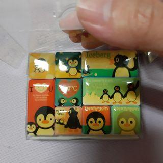 企鵝家族圖案磁鐵