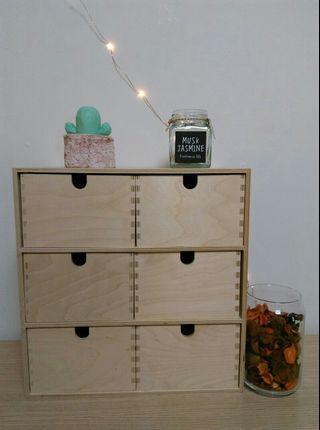 IKEA迷你抽屜儲物盒, 樺木合板,31x18x32cm