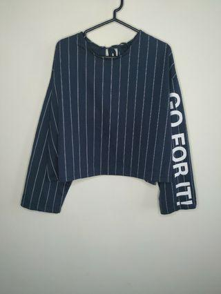 Letter Sleeve Top