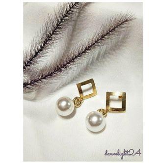 韓系珍珠手作耳環
