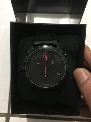 CK凱文克萊 黑色公司貨手錶⌚️男女皆可