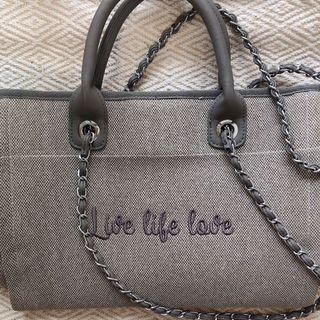 SALE 泰國品牌 手工帆布大包手提包肩背包chanel沙灘包