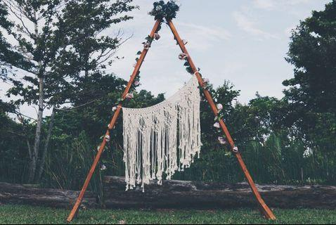 Wooden Triangle Arch