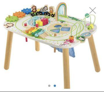 Wooden activity train table