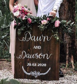 Personalized Wooden Wedding Signage
