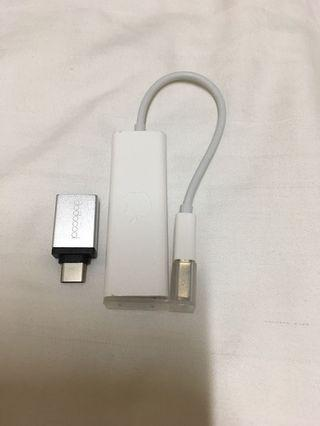 Apple ori ethernet usb free type c adapter