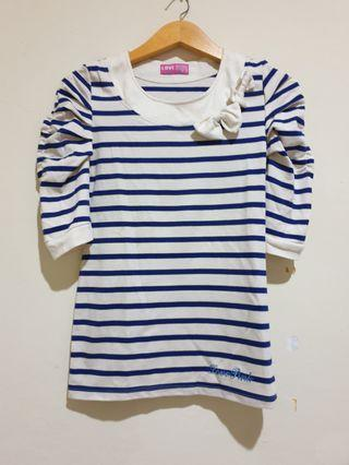 Stripes striped tee top blouse