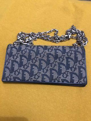Authentic  💯 Dior Monogram Wallet On Chain