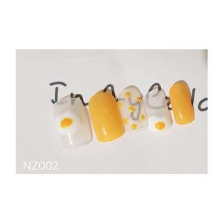 Fake nail desain egg
