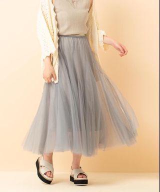 近新日本Retro Girl 淺灰色雙層紗裙