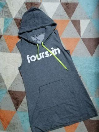 FOURSKIN DRESS WITH HOODIE